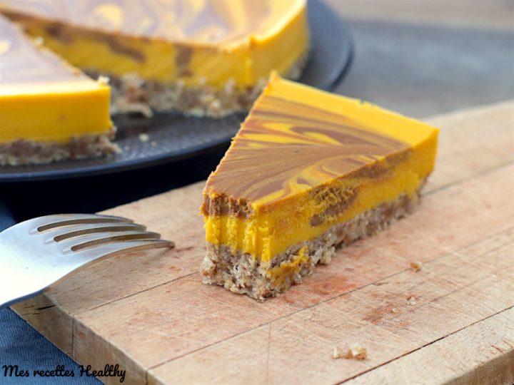 Cheesecake marbré au chocolat et potiron