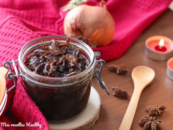 Confit d'oignon au miel et épices