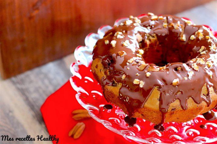 Gâteau au marron, pécan et chocolat