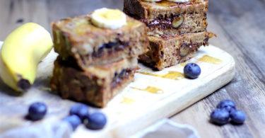 recette-pain perdu-banane-myrtille-chocolat-fourré-fruit-