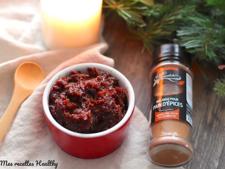 Chutney de figue facile aux épices de Noël