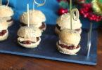 recette-noel-burger-sandwich-aperitif-foie gras-chutney-figue-mini burger au chutney de figue