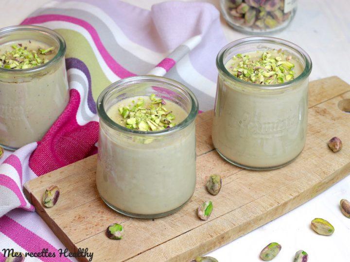 Yaourt à la pistache vegan sans yaourtière