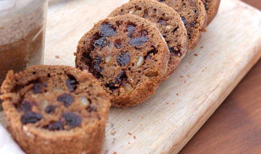 recette-cake-gateau-pain d epices-noel-fruit confit-melasse-épice