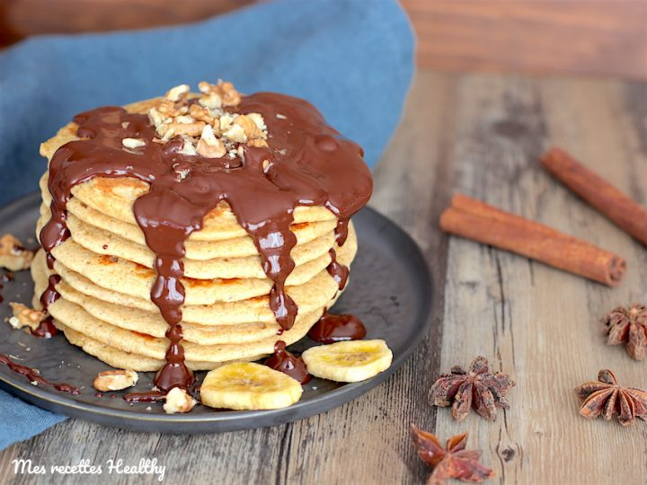 Pancake au mascarpone et vanille sans gluten