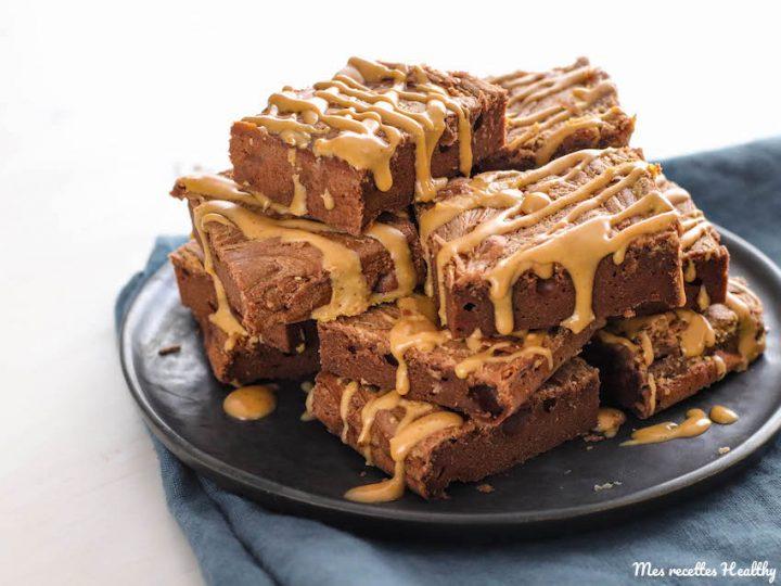 Brownie au beurre de cacahuète et chocolat