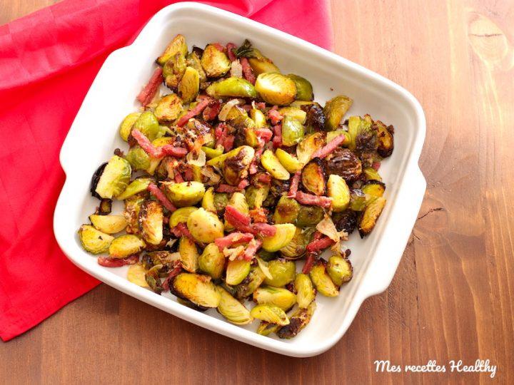 recette-choux-chou-choux de bruxelles-parmesan-bacon
