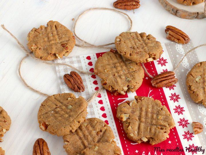 cookie-bisucit-sans beurre-beurre de cacahute-peanut butter-noix de pecan-soja-carrefour bio