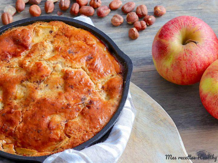 Gâteau pomme noisette à la poêle