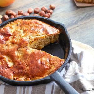 gateau pomme-noisette-recette healthy-pole-sans beurre