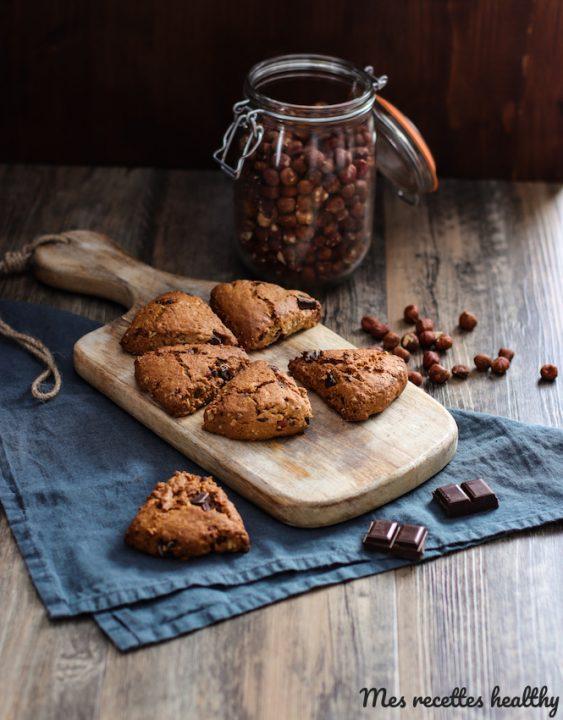 Scone de noisette et pépite de chocolat