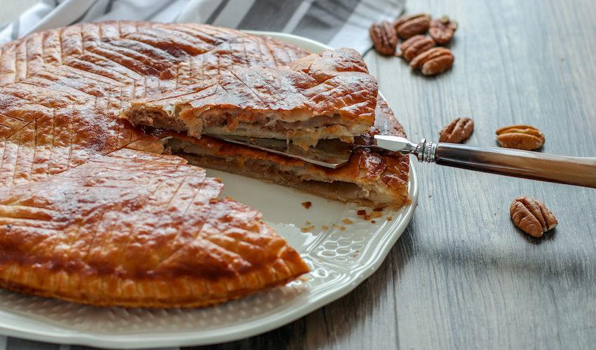 galette des rois au sirop d'érable-recette-galette des rois-noix de pécan-sirop d'erable-amande-frangipane