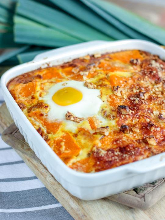 recette-quiche-gratin-pâte-potiron-courge-poireau-gratin de poireau