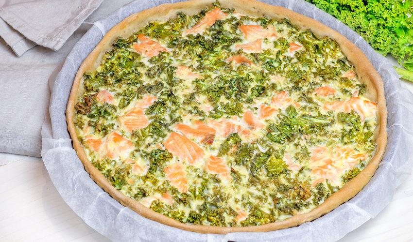 recette-quiche-chou-choux-kale-saumon-poisson-ricotta-tarte-quiche au kale