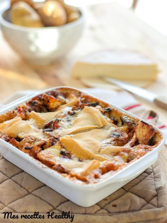 recette-tartiflette-fromage-reblochon-savoie-montagne-allégée-tartiflette allégée-plat familiale-healthy