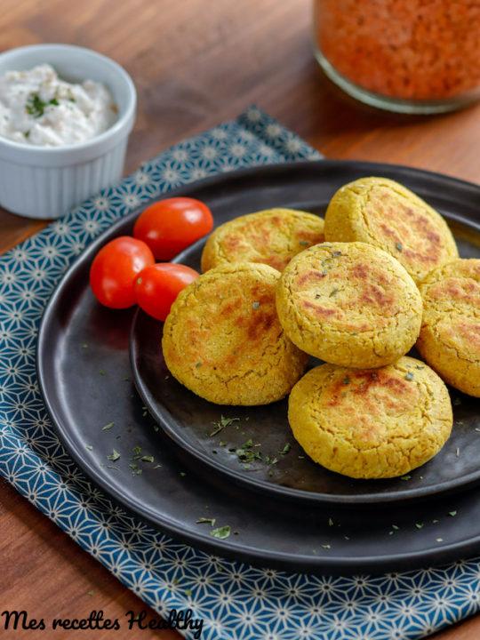 recette-croquette de lentille corail-sans gluten-falafel-pois chiche-sauce yaourt légère-vegie-vegetarien-burger-hamberger-steak vegetarien-avoine-son d'avoine