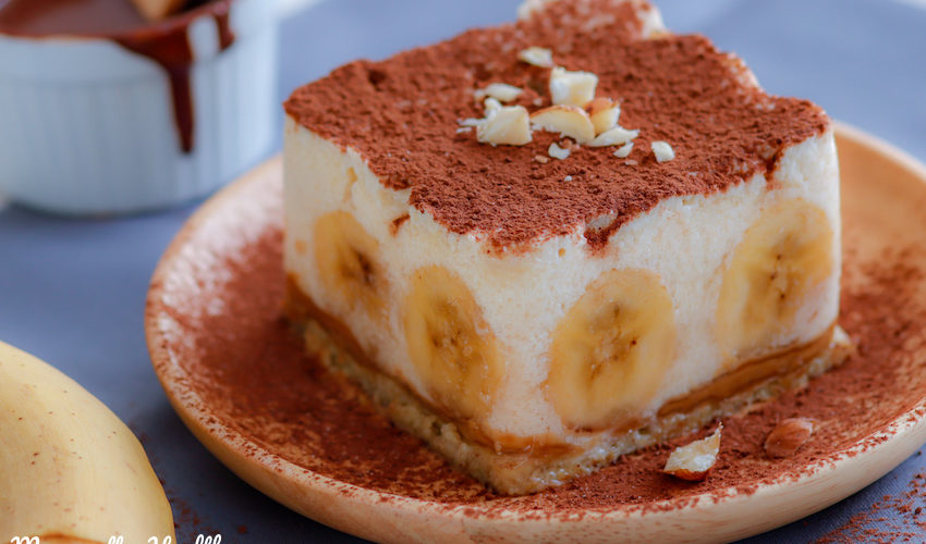 bannoffee pie-recette-healthybanofe-bannofe-banoffe-bannoffee healthy-banane-fruit-leger-yaourt-fromage-cheese-cheesecake-pancake-cacahuète