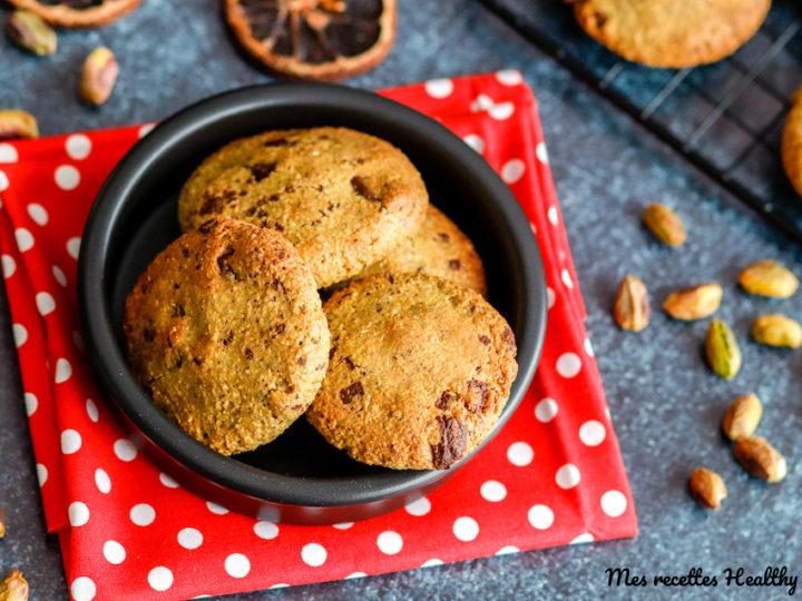 recette-biscuit à la pistache-sans gluten-sans lait-sans lactose-sans beurre-avoine-cookie-facile-healthy