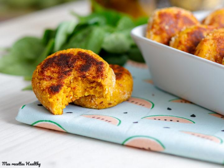recette-nugget-nuggest végétarien au fromage-parmesan-potiron-citrouille-falafel-pois chiches-parmesan-fromage-veggie-healthy-facile-steak-burger