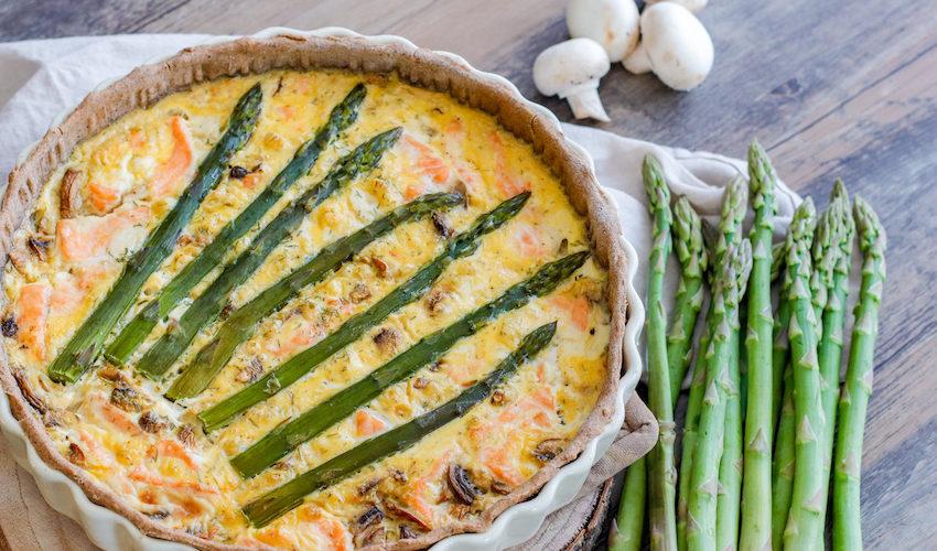 recette-quiche-tarte-asperge-saumon-fromage-chevre frais-champignon-facile-healthy-moutarde-rapide-quiche de saumon