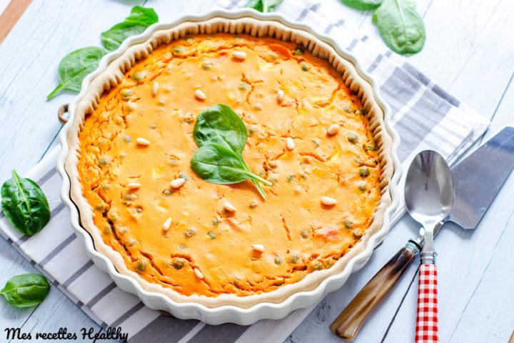 recette-tarte-quiche-citrouille-potiron-courge-petits pois-facile-fromage-quiche de potiron