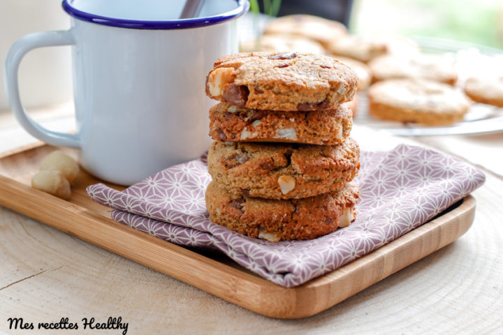 recette-sable sans gluten-sans lait-sans lactose-biscuit-cookie-noix de macadamiam-chocolat-flocon d'avoine-sans beurre