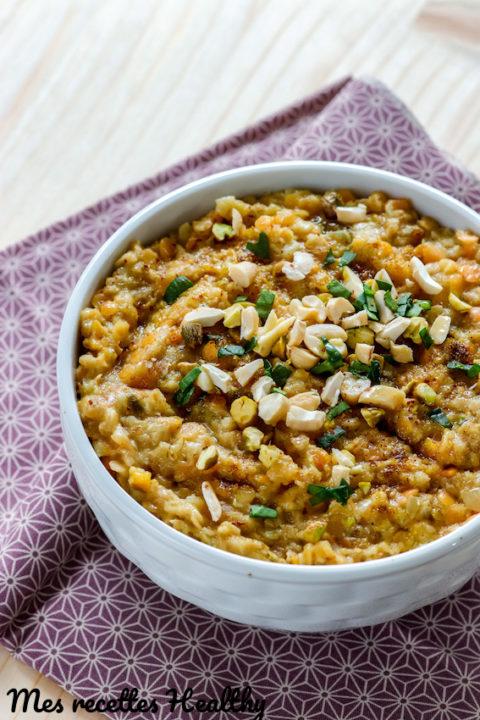 recette-dhal-dahl-dal-lentille corail-lait de coco-healthy-porridge-flocon d'avoine-gruau-