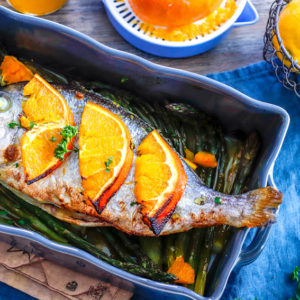 recette-dorade au four-agrule-citron-poisson-rapide-healthy-facile-dorade au four à l'orange