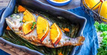 recette-dorade au four-agrule-citron-poisson-rapide-healthy-facile-dorade au four à l'orange