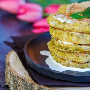 recette-galette poireau-flocon avoine-pancake de poireau-legume-