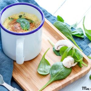 recette-mug quiche-bowl cake salé-quiche lorraine-quiche sans pâte-fromage-legume-oeuf-facile-rapide
