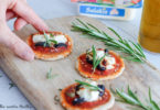 recette-pizza apero-aperitif-mini pizza-healthy-feta-salakis-fromage