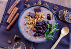 recette healthy-bowlcake-smoothie bowl-friuit-fruits-superfood-cereale-avoine-chia-açaie-smoothie bowl glacé