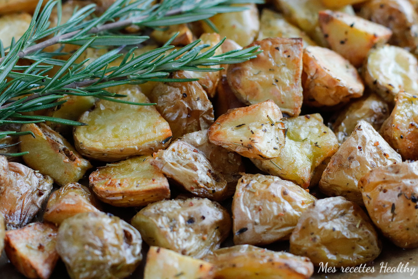 recette-pomme de terre au four-ail-herbes de Provence-romarin-thym-facile-rapide-patate-croustillante-frite-pommes