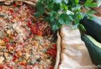 recette-tarte poivron-corugette-poulet-quiche-legume