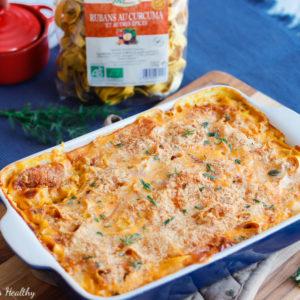 recette-gratin-pate-lazzaretti-cancoillotte-fromage-curcuma-epice-butternut-courge-potiron-gratin de pâte au butternut