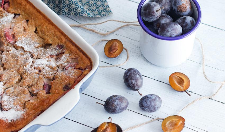 recette-sans lait-prune-clafoutis aux quetsches-gâteau-healthy