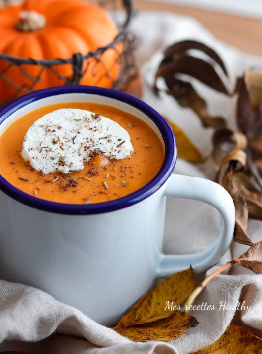 recette-soupe de doubeurre-courge-patate douce-carotte-potiron-citrouille-potage-legume-lait de coco-epice