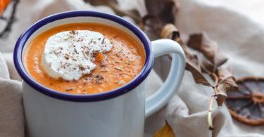 recette-soupe de butternut-courge-patate douce-carotte-potiron-citrouille-potage-legume-lait de coco-epice