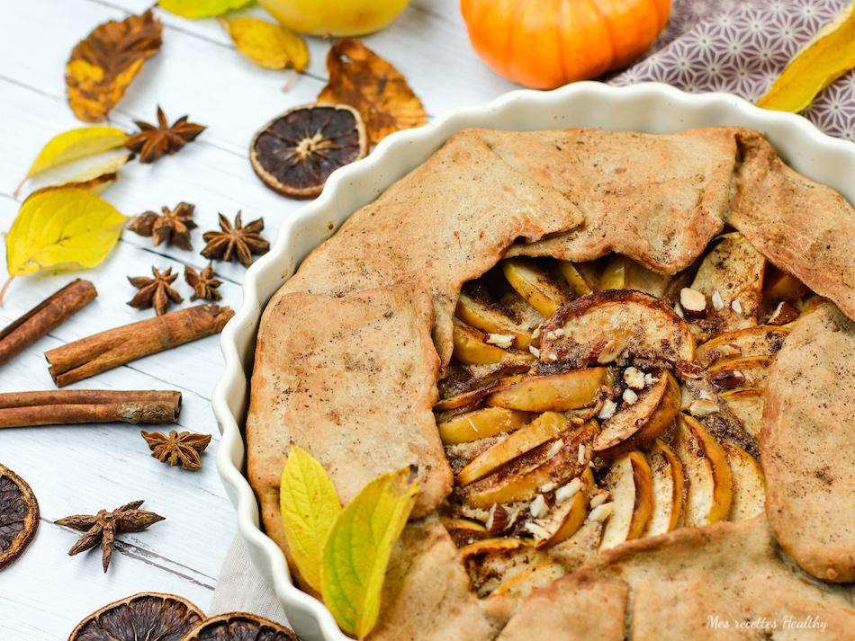 recette-healthy-tarte aux pommes-amandes