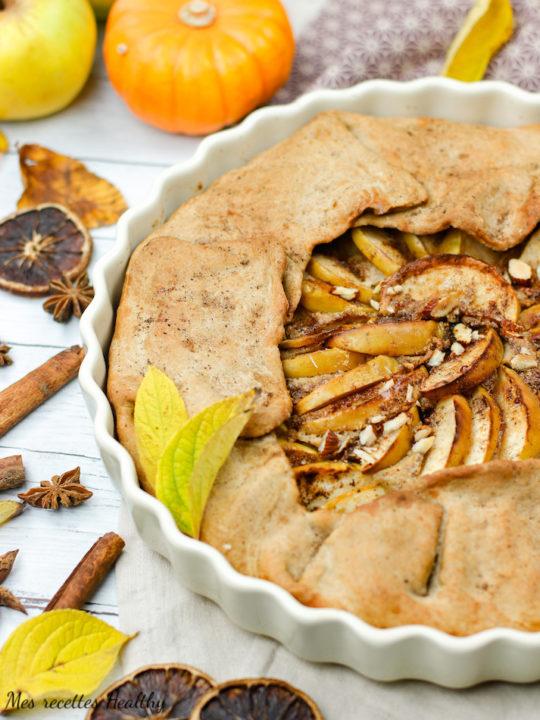 recette-healthy-tarte aux pommes-amandes-