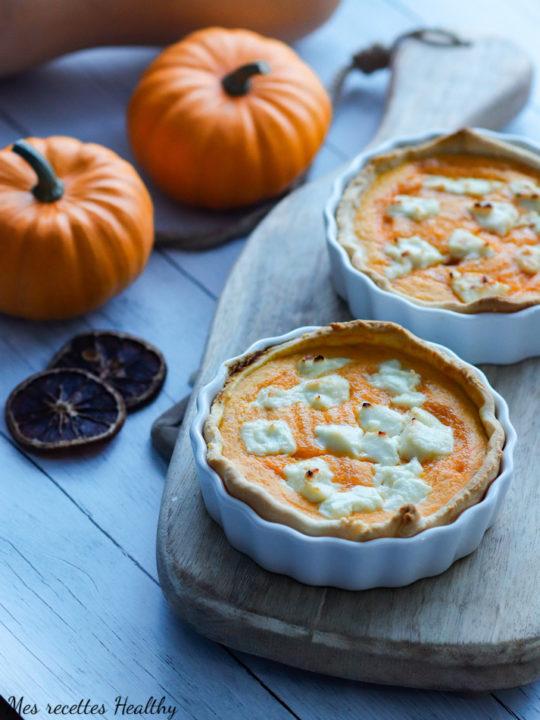 tarte au butternut et chèvre frais-recette ehalthy-potiron-citrouille-doubeurre-courge-fromage-chevre-miel-tarte-quiche-