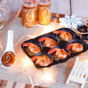 recette healthy-cuisine-chutney de mangue-crevette-verrine-noel-fete-aperitif