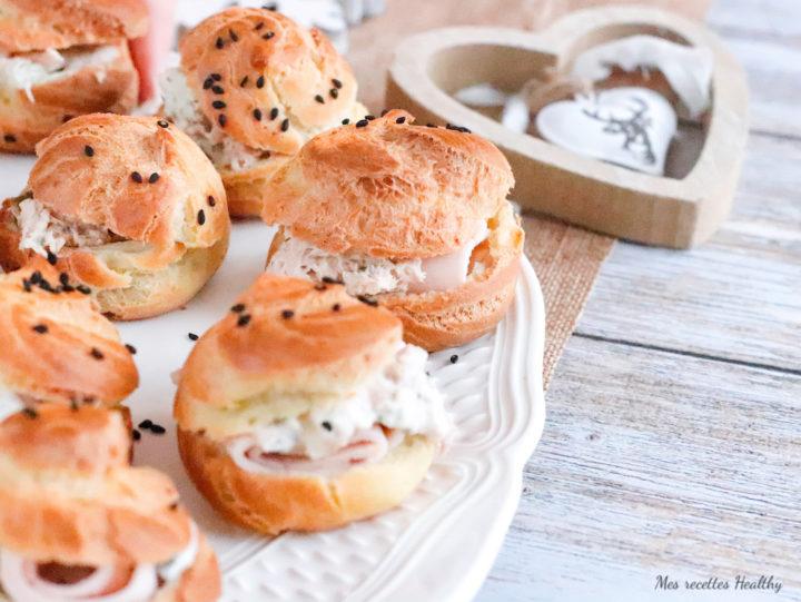 pâte à choux -sans gluten-sans lait-sans lactose-apéritif-choux salé-Noel