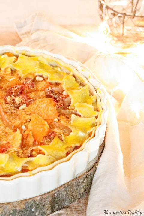 recette-quiche-tarte-healthy-tarte potiron poireau-jambon-charcuterie-fondu de poireau-