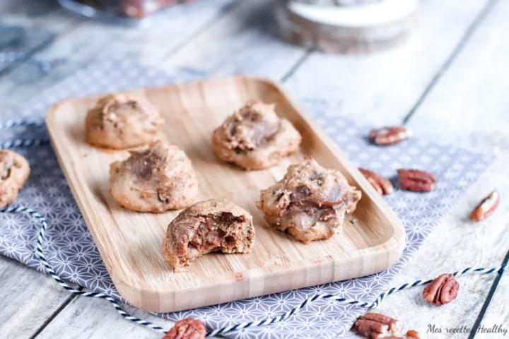 recette healthy, biscuit fondant pecan, sans beurre