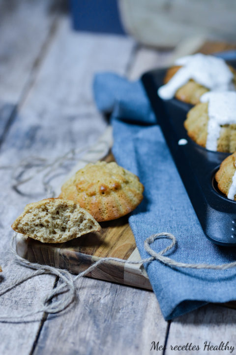 recette healthy-muffin à la pomme-sans beurre-compote de pomme-facile