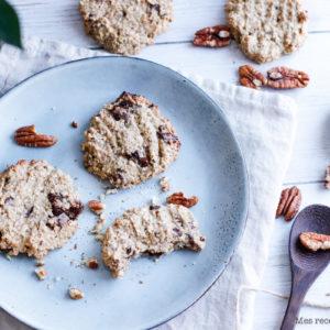 recette healthy-biscuit noix de pecan-cookie sans beurre-céréale-avoine-sarrasin-compote
