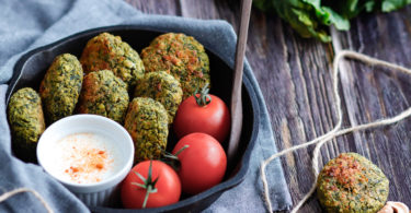 recette healthy-falafel aux épinards-pois chiches-avoine-croquette-feta-fromage-vegetarien