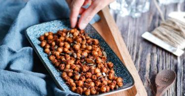pois chiches grillés-pois chiches rotis-aperitif-recette healthy-epice